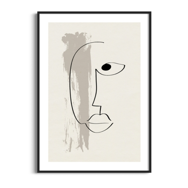 Abstract face #13 poster in black frame