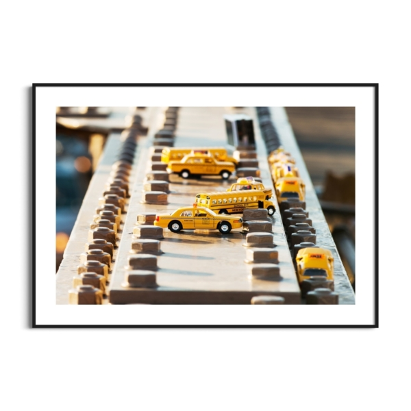 Brooklyn Bridge View From Brooklyn Print in black frame