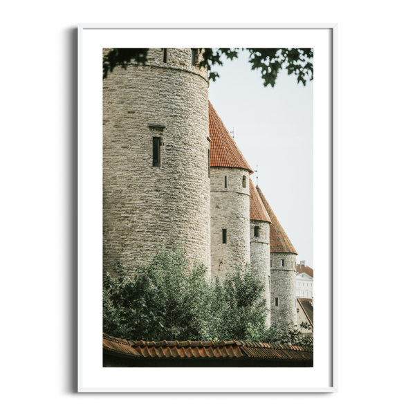 Four Towers photography print in white frame with border