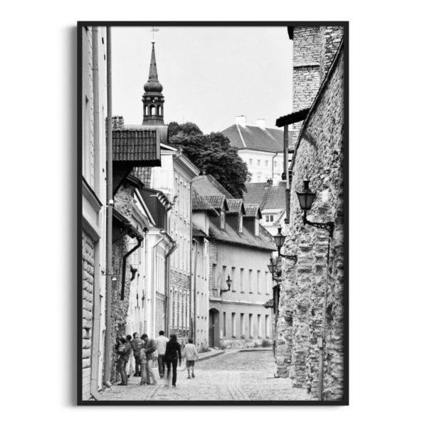 Laboratooriumi Street print in black frame without border