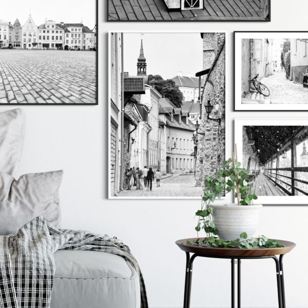 Laboratooriumi Street print in white frame on the wall