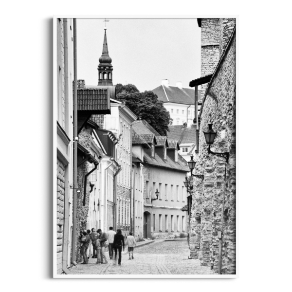 Laboratooriumi Street print in white frame without border