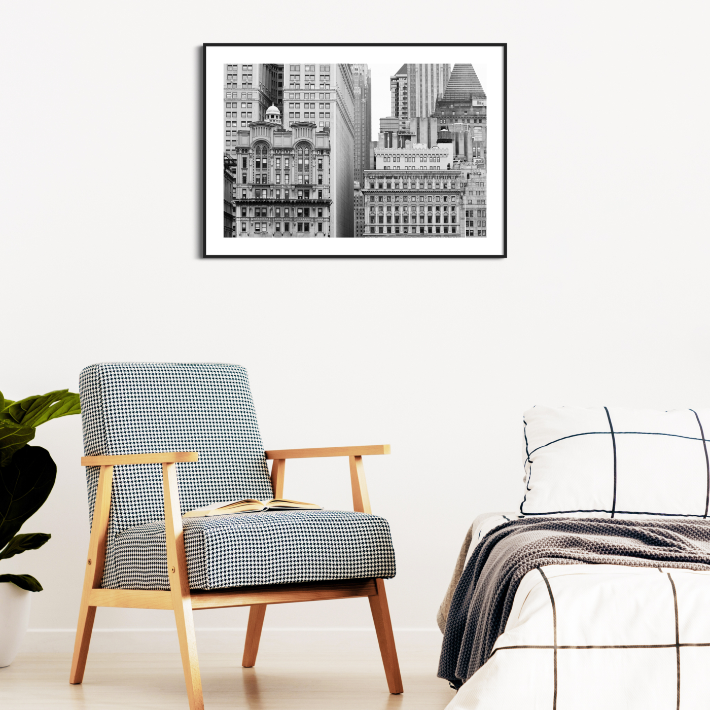 Manhattan Architecture Shot Number 11 - black and white print on the wall