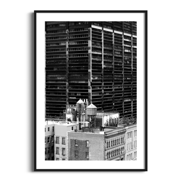 Manhattan Architecture Shot Number 36 print in black frame with border