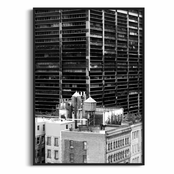 Manhattan Architecture Shot Number 36 print in black frame without border