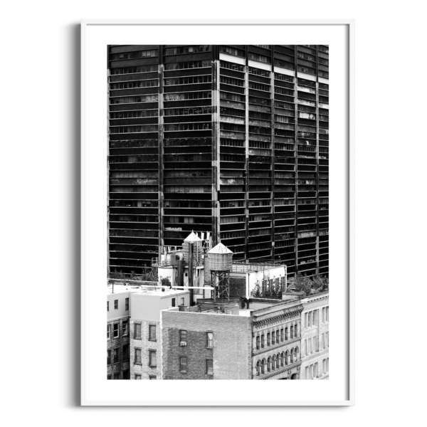 Manhattan Architecture Shot Number 36 print in white frame with border