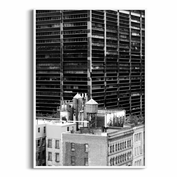 Manhattan Architecture Shot Number 36 print in white frame without border