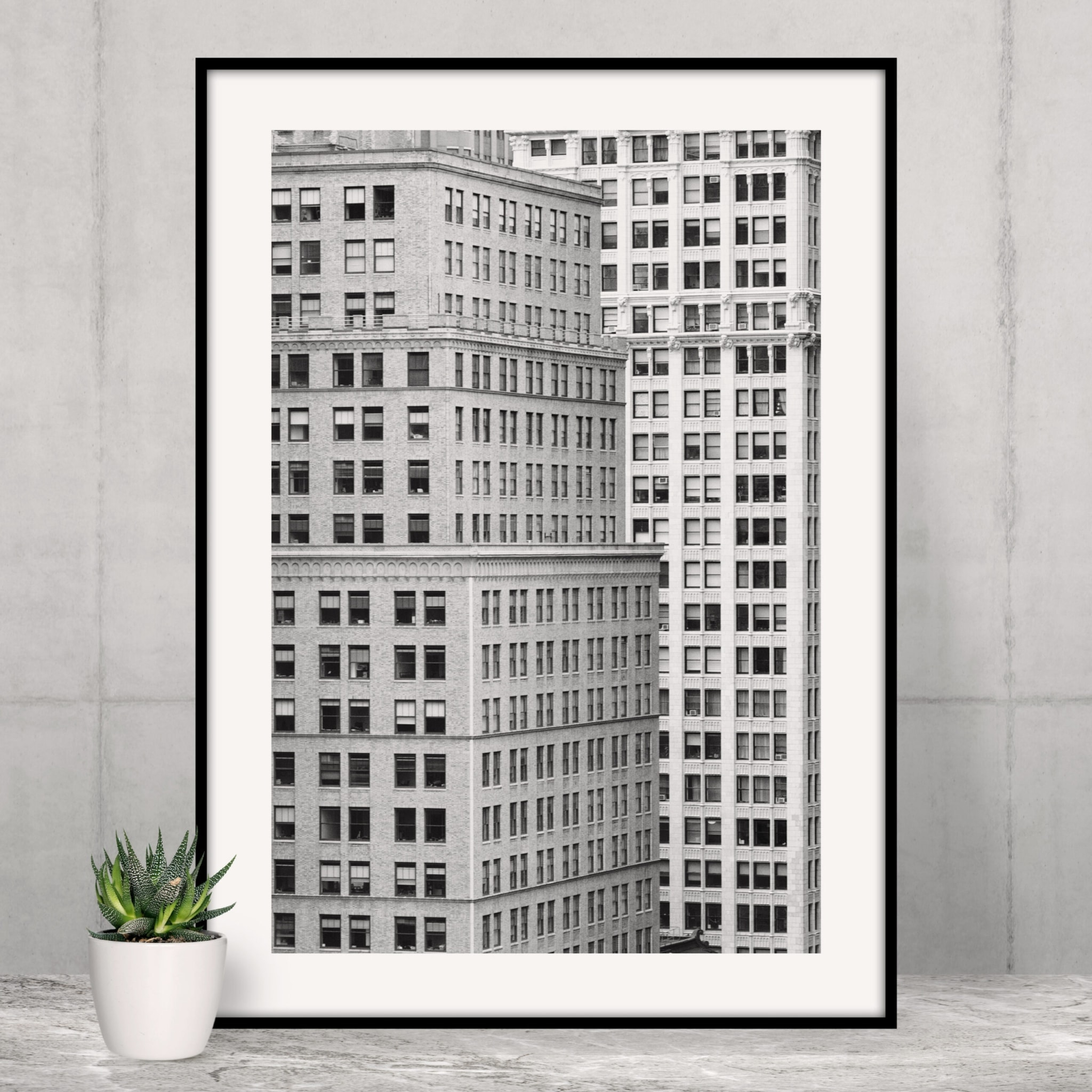 Manhattan Architecture Shot Number 7 in black frame on the shelf