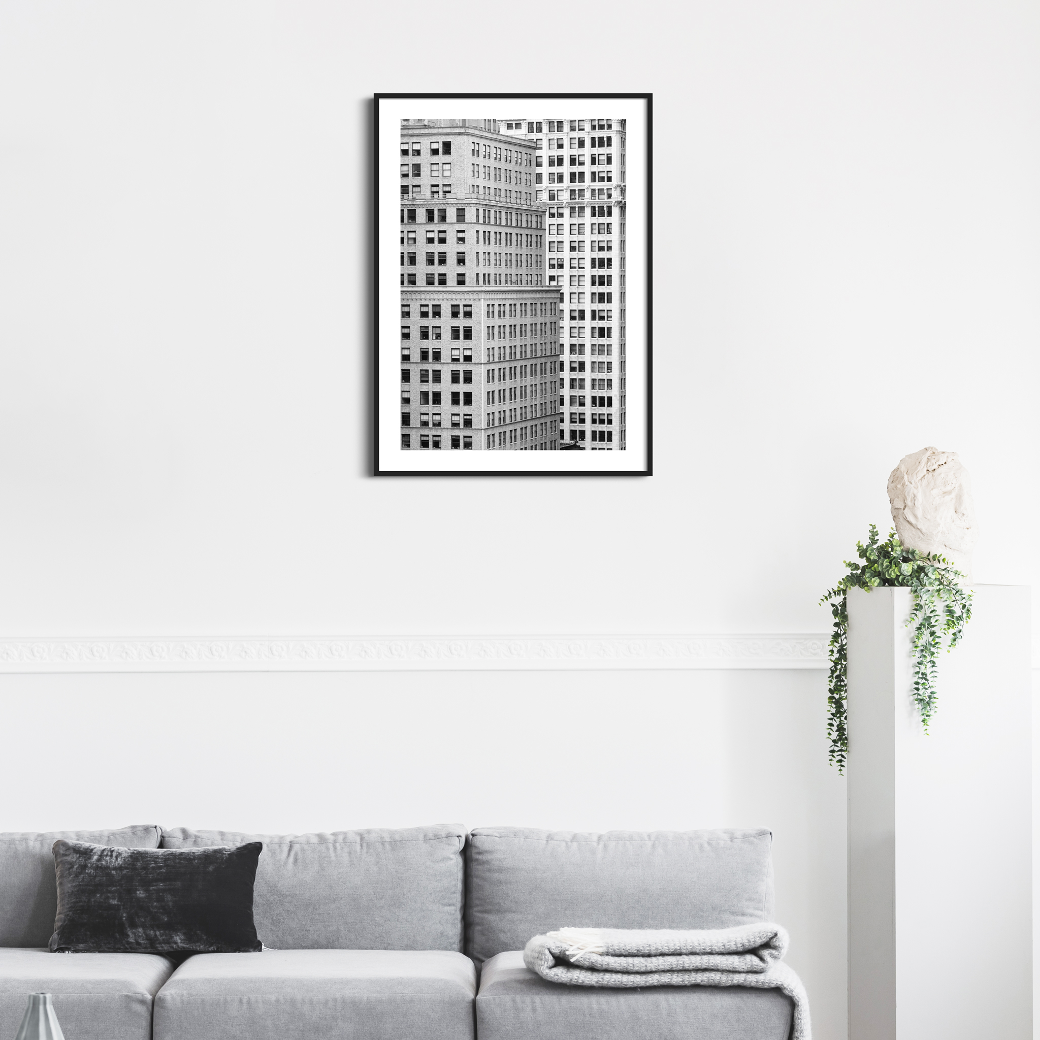 Manhattan Architecture Shot Number 7 in black frame on the wall