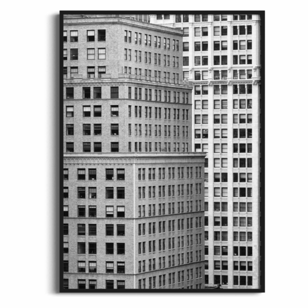 Manhattan Architecture Shot Number 7 in black frame without border