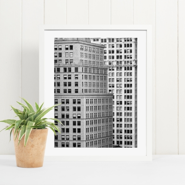 Manhattan Architecture Shot Number 7 in white frame on the shelf