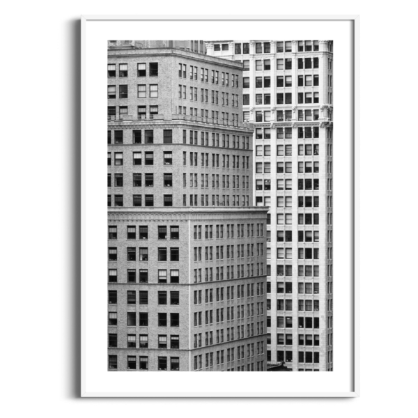 Manhattan Architecture Shot Number 7 in white frame with border