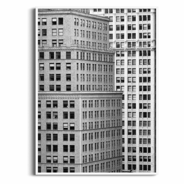Manhattan Architecture Shot Number 7 in white frame without border