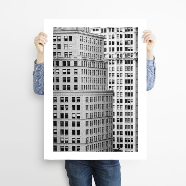 Manhattan Architecture Shot Number 7 - Man holding the print