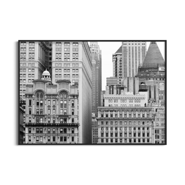Manhattan Architecture Shot Number 7 print in black frame without border