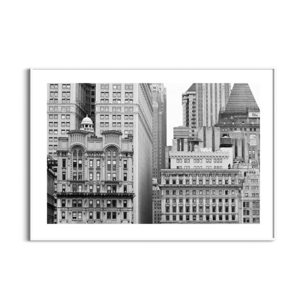 Manhattan Architecture Shot Number 7 print in white frame with border