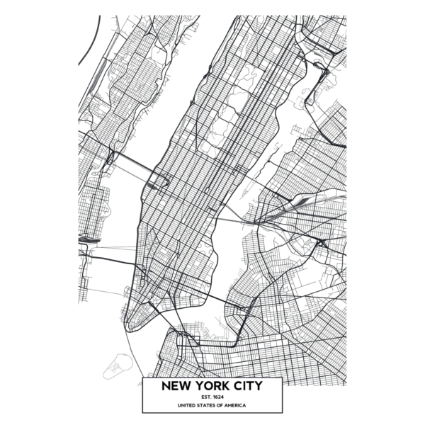 New York City Map print design