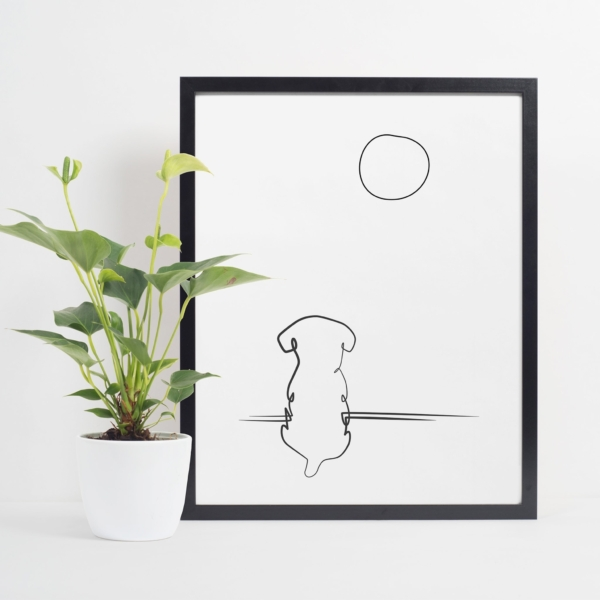 Miss You poster interior black frame shelf