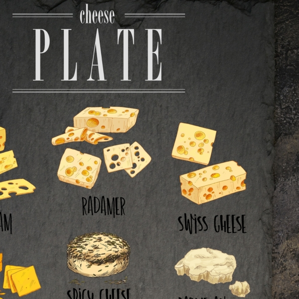 Cheese Plate design detail