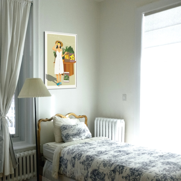 Look for the magic in every moment - white frame bedroom
