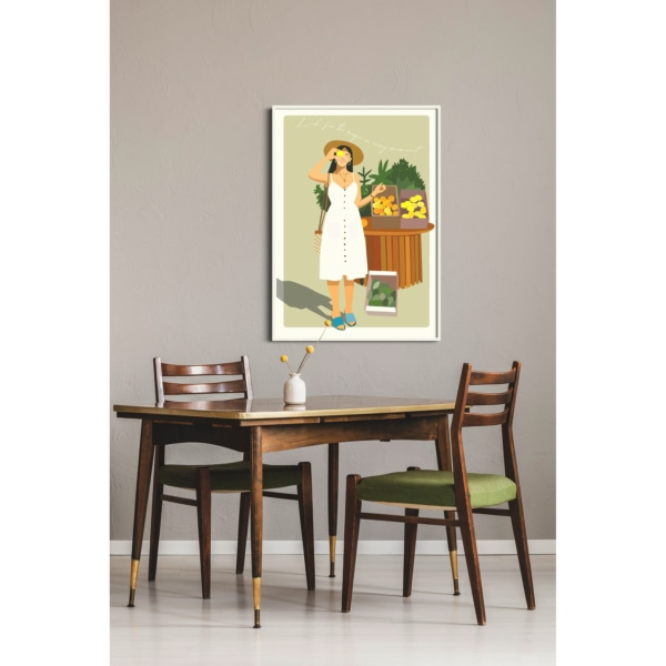 Look for the magic in every moment - white frame dining room