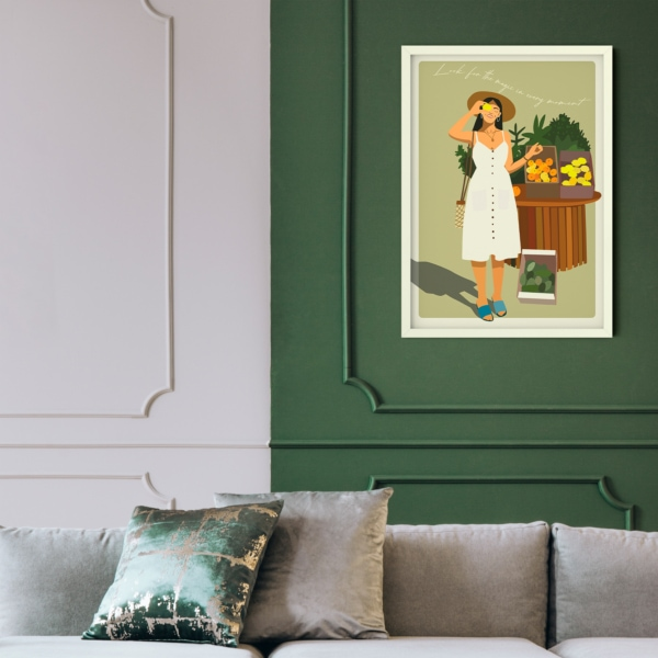 Look for the magic in every moment - white frame hall
