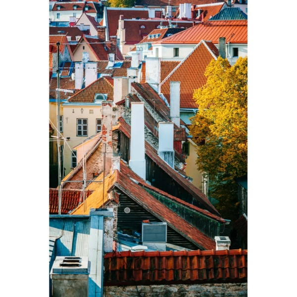 Old Town Roofs photograph