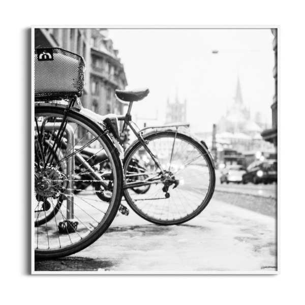 lausanne bicycles in snow white frame no border