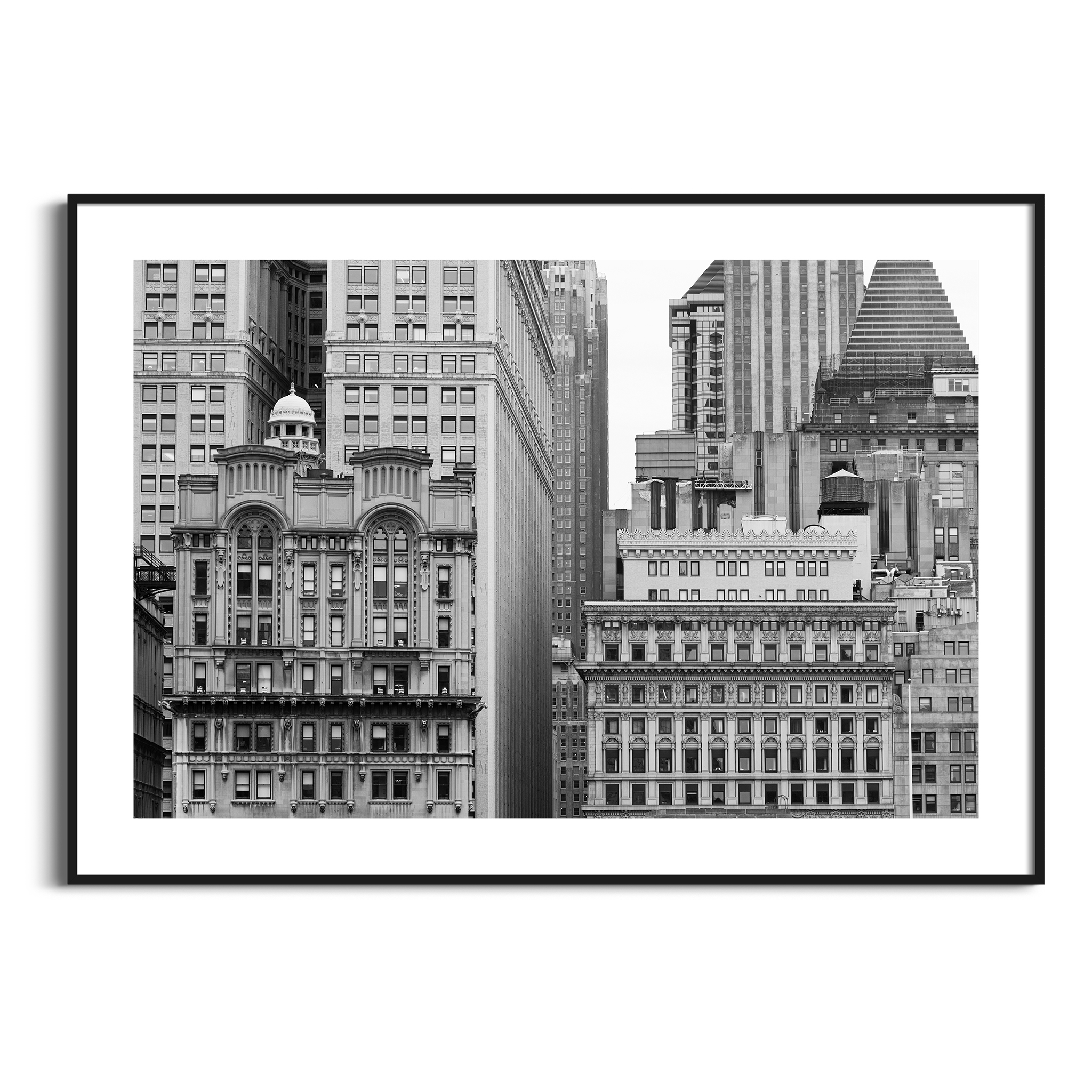 Manhattan Architecture Shot Number 11 print in black frame with border