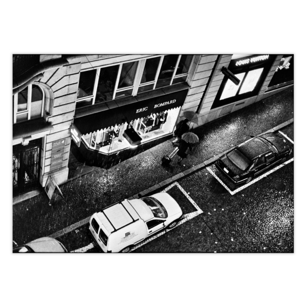 Heavy Rain in Lausanne photography - black and white print without border